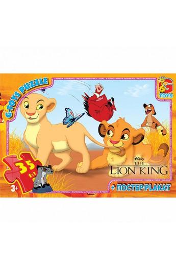 Пазли  із серії  Король Лев , 35 елементів LK001 ТМ  G-Toys