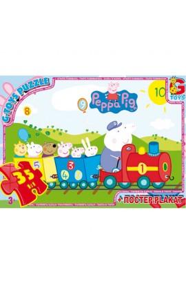 """Пазли  із серії """"Свинка Пеппа"""", 35 елементів PP001 ТМ """"G-Toys"""""""