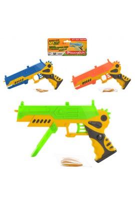 Пістолет 870-2 3 кольори, стріляє резинками, кул., 16,5-29-2,5 см