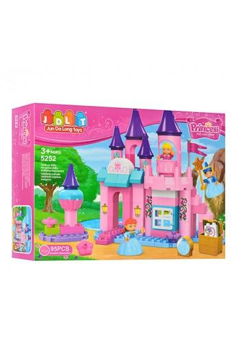 Конструктор JDLT 5252 замок принцеси, фігурки 3 шт., 95 дет., кор., 45-33-9 см