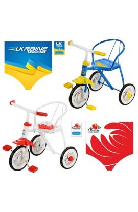 Велосипед LH-701 UKR 3 колеса, 2 кольори: жовто-блакитний, біло-червоний