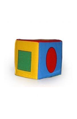 Кубик - брязкальце  Геомітричні фігури  РОЗУМНА ІГРАШКА 123