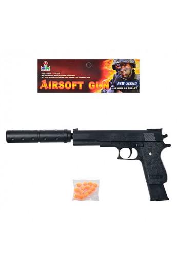 Пістолет ES2089-K2011-K+ кулі, глушник, кул., 15-26-2,5 см