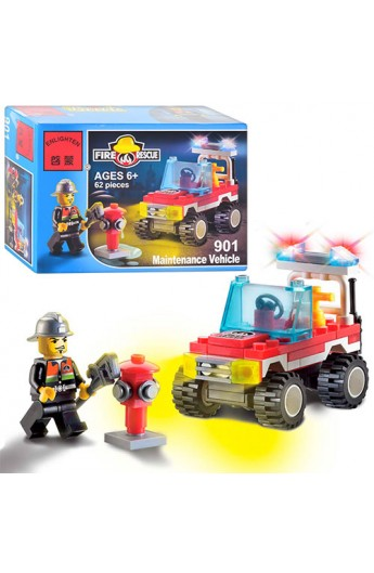 Конструктор BRICK 901 Пожежна тривога, 62 дет., кор., 14-9,5-4,5 см
