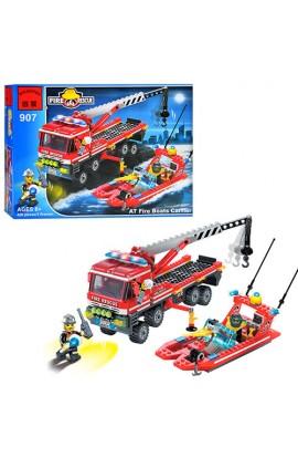 Конструктор BRICK 907 Пожежна тривога, 420 дет., кор., 37-29-5,5 см