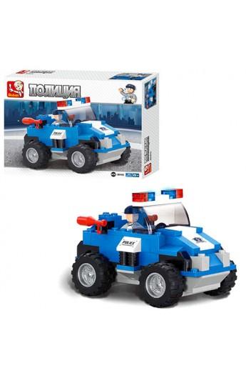 Конструктор SLUBAN M38-B0183  Поліція : позашляховик, фігурка поліцейського, 121 дет.
