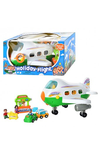 Літак 12411 термінал, фігурки, муз., світло, бат., кор.