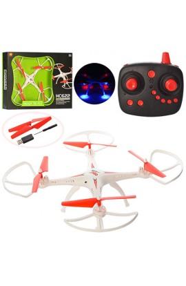 Квадрокоптер HC622 радіокер., акум., гіроскоп, USB зарядне, запасні лопасті, світло, кор., 49-38-7,5