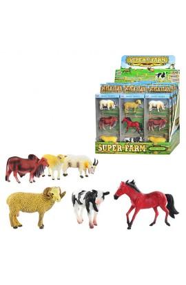 Тварини Q 9899-197 2 види, домашні, 3 шт. в кор., 12 шт. в диспл., 32,5-26,5-19 см