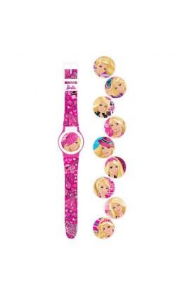 Годинник Barbie з набором змінних панелей для циферблату (5 функцій: місяць, дата, години, хвилини,