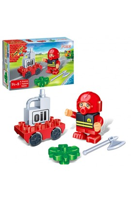 Конструктор BANBAO 9636 пожежник, 4 дет., фігурка, кор., 16-10-3,5 см