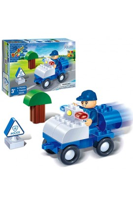 Конструктор BANBAO 9605 поліцейський транспорт, 9 дет., фігурка, кор., 23-15-5 см