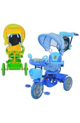 Велосипед ET A 24-9-1 3 колеса, мет., 2 кольори: блакитний, зелений, батьківська ручка, рюкзак, муз.