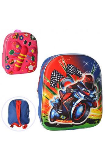 Рюкзак MK 0809 розмір середній, 2 види, кул., 31-26,5-8,5 см.