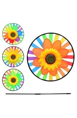 Вітрячок M 0776 соняшник, 4 кольори, кул., 35 см