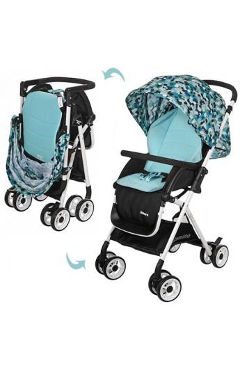 Візок дитячий HC300-BLUE прогулянковий, колеса 8 шт., корзина, блакитно-чорний, кор.