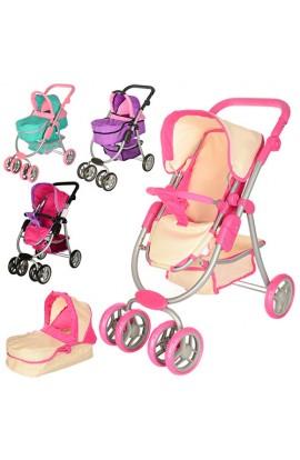 Візок 9662M для ляльки, прогулянковий/класика, колеса, поворот, корзина, кор.