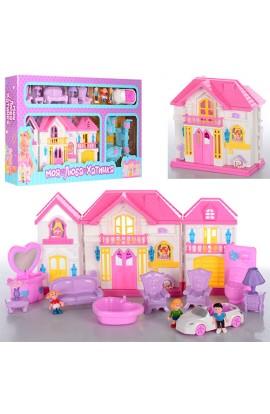 Будиночок WD-922C-D меблі, фігурки, машина, муз.,, світло, 2 види, бат., кор., 63,5-32-7 см.