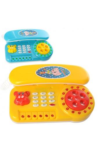 Телефон 610A 2 кольори, муз., світло, бат., 15,5-10,5-3,5 см.