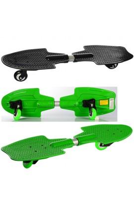 Скейт ріпстік MS 0849 пенні, алюм. підвіска., 2 колеса PU діам. 76 мм, ABEC-5, 2 кольори, 75,5-21,5-