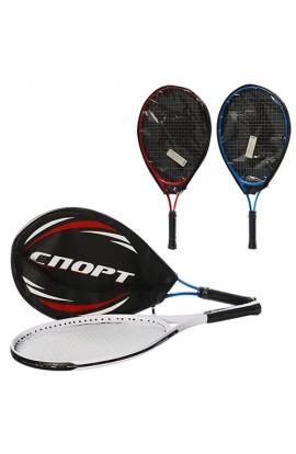 Тенісна ракетка MS 0760 1 шт., алюм., 23'', 3 кольори, чохол, 59-27-3 см.