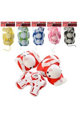 Захист MS 0032-1 для колін, ліктів, зап'ястя, 6 кольорів, сітка, 18,5-34-6 см.