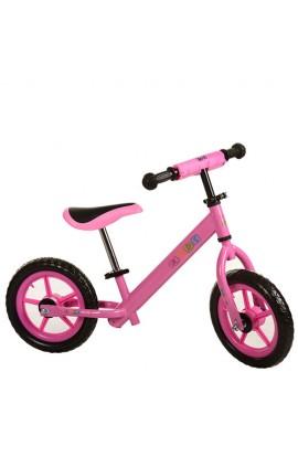 """Біговел дитячий 12"""" M 3142-3 PROFI KIDS колеса EVA, пласт. обід, рожевий"""