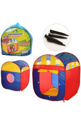 Палатка M 1421 куб, 1 вхід, застібка-липучка, вікно-сітка, сумка, 38-39-5 см.