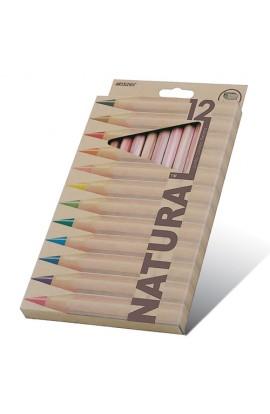 Олівці 12 кольорів шестигранні Jumbo з точилкою (кедр), Natural - Cedarlite, Marco