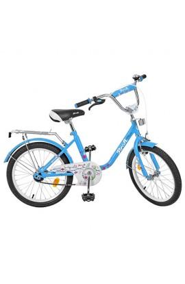 Велосипед дитячий PROF1 L2084 20  дзеркало, дзвінок, підніжка, блакитний, кор.