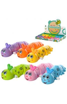 Заводна іграшка 687 гусениця, 12 шт. (6 кольорів) в диспл., 38,5-26.5-5,5 см.