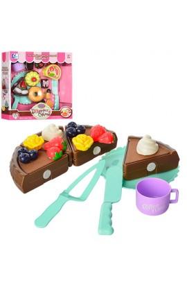 Продукти P0100-3-4 солодощі, тарілка, стол. прибори, 2 види, кор., 26,5-26,5-7 см.