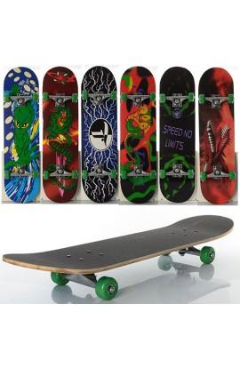 Скейт MS 0322-4 алюмінієва підвіска, колеса ПВХ, 7 шарів, 6 видів, розібраний, до 40 кг, кул., 78,5-