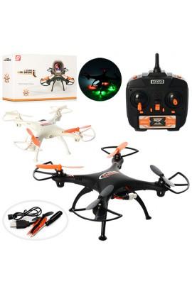 Квадрокоптер XS802 радіокер., 2,4G, акум., світло, USB, запасні лопасті, 2 кольори, кор., 38-19,5-8,
