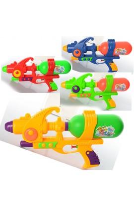 Водяний пістолет дитячий M 2852 4 кольори, кул., 16-30-6 см