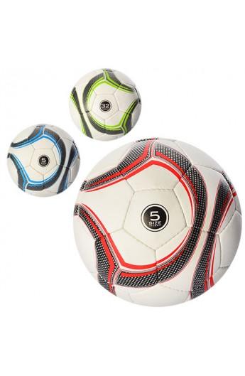 М'яч футбольний 2500-15ABC розмір 5, ПУ 1,4 мм., 4 шари, 32 панелі, 400-420 г., 3 кольори.