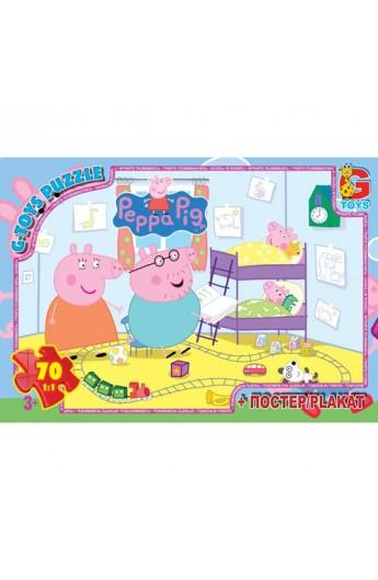 """Пазли із серії """"Свинка Пеппа"""", 70 елементів PP018 ТМ """"G-Toys"""""""