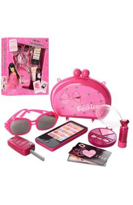 Набір аксесуарів BE1356 косметичка, окуляри, телефон, ключ, муз., світло, бат., кор., 32-32-6 см.