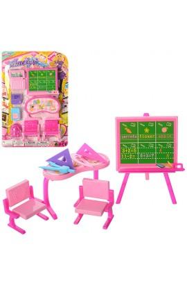 Меблі BB001E-4 шкільна, аскессуари, 2 види, лист, 23-15,5-3,5 см.