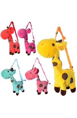 Сумочка BLS 2670 жираф, довга ручка, застібка-блискавка, 1 відділення, 5 кольорів, 40-20-9 см.