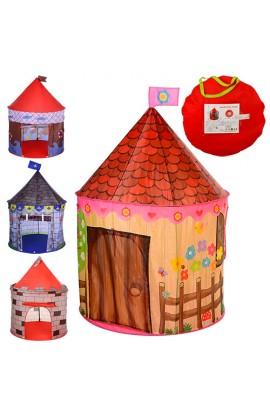 Палатка M 2967 будиночок, 1 вхід-накидка +липучка, 2 вікна-сітки, мікс видів, сумка, 44-44-4 см.