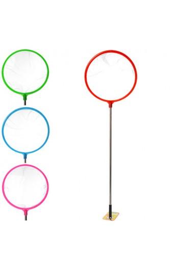 Сачок для метеликів MS 0888 ручка, діаметр 24 см., сталь, 4 кольори.