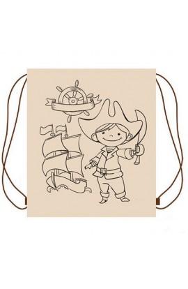 Рюкзак ЕКО для речей Пірат 30*40см. бежевий (з фломастерами) УкрОселя