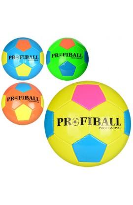 М'яч футбольний EN 3227 розмір 5, ПВХ 1,6 мм., неон, 300-320 г., 3 кольори, кул.