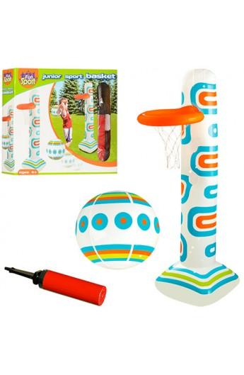 Ігровий центр HF007 надувний, баскетбол, стійка, м`яч, насос, кор., 38-32-8 см.