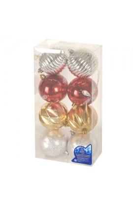 Ялинкові кульки 6см 8шт/кор, 8550
