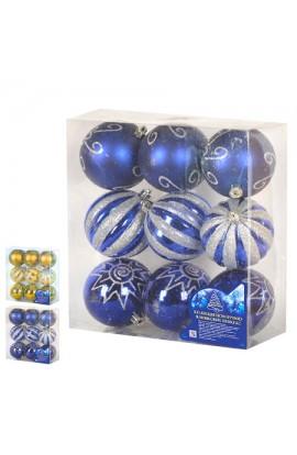 Ялинкові кульки 8см 9шт/кор, 8529