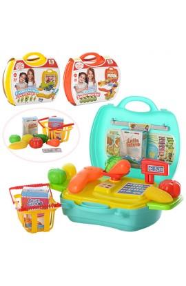 Магазин MJX8015-7016-6015 від 22 дет., 3 види (продукти, посуд), валіза, 24-22-10,5 см.