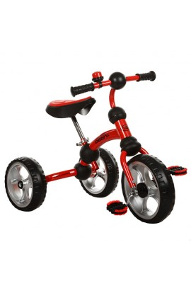 Велосипед M 3192-2 три колеса EVA, рама-поворот, підшипник, дзвіночок, червоний.