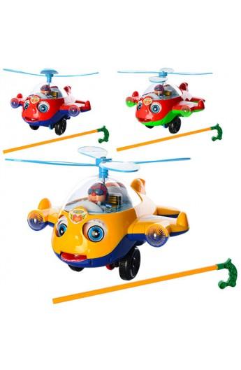 Каталка S168 ціпок, вертоліт, оберт. гвинт, рухає очима і язиком, 3 кольори, муз., кул., 23-20,5-15